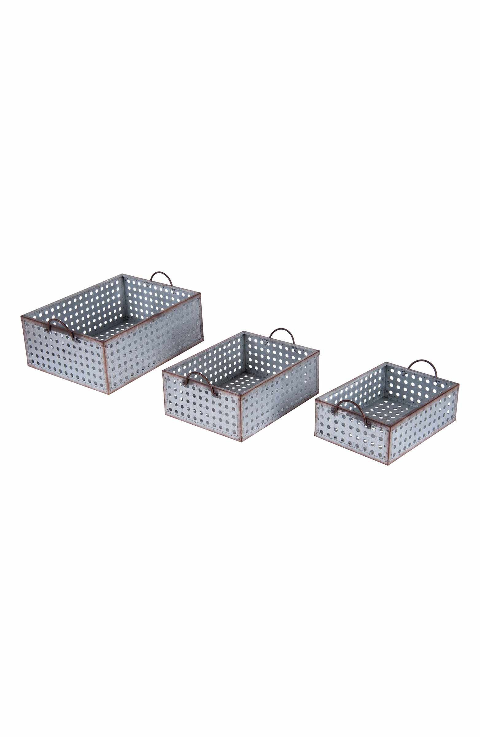 Main Image - Foreside Set of 3 Perforated Baskets