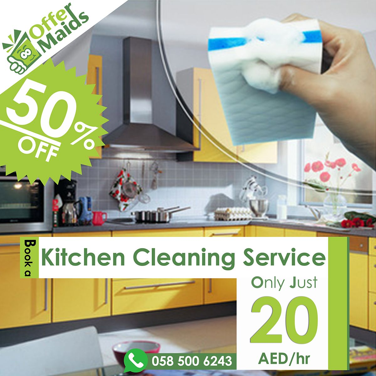 Reach us @ www offermaids com 058 500 6243 Cleaning