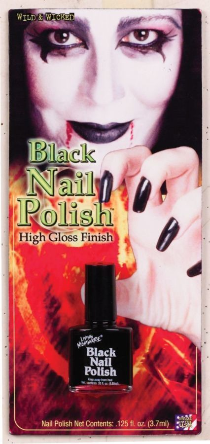 costume accessory: nail polish black [style #74bk] Case of 10