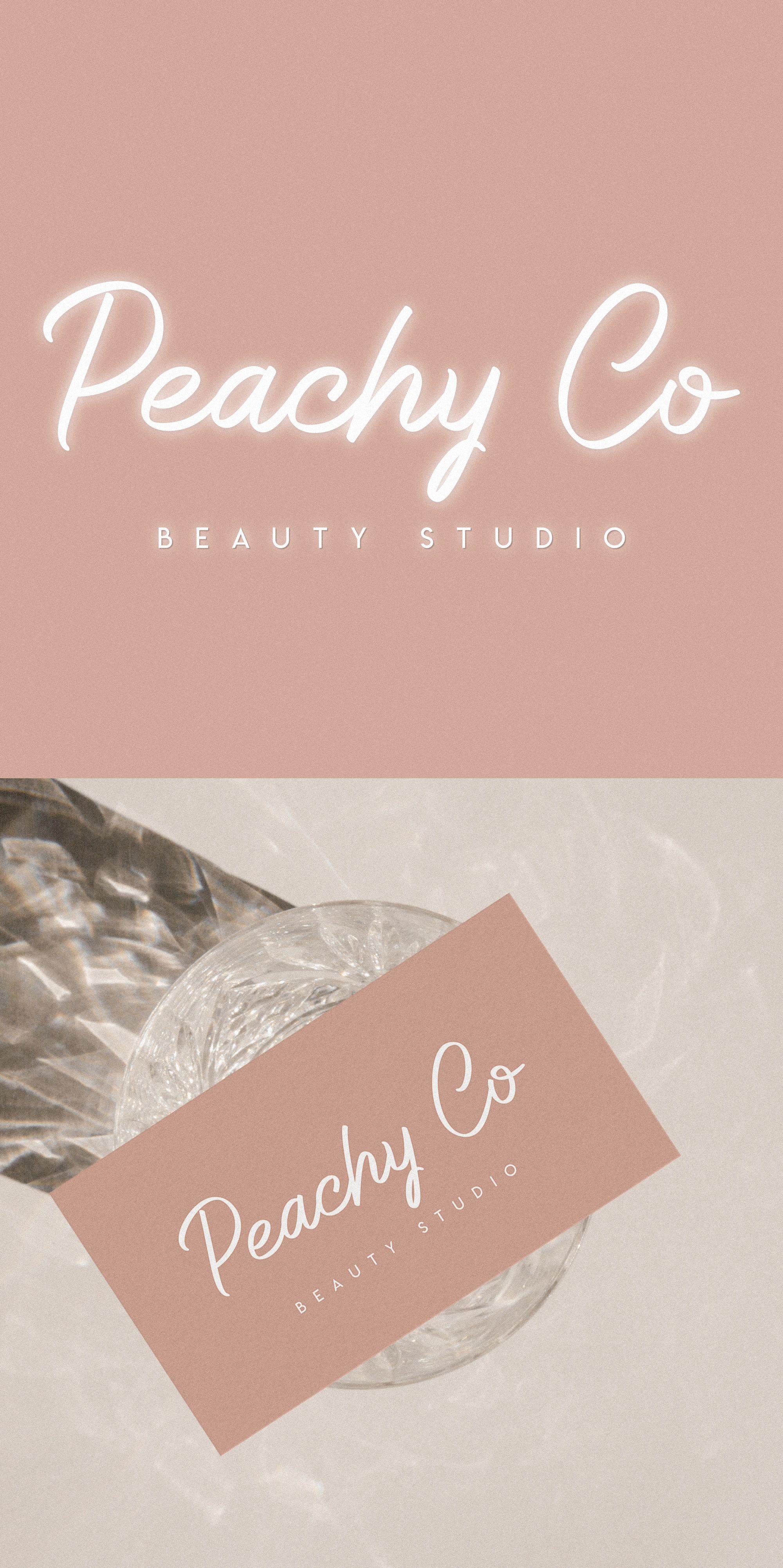 Premade Neon Logo, Beauty Logo Design, White Neon Letters
