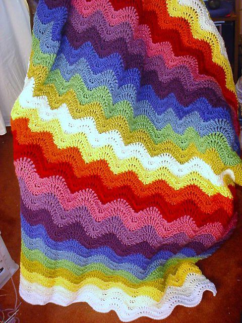 Ravelry: Feather and Fan Blanket pattern by Bernat Design Studio ...