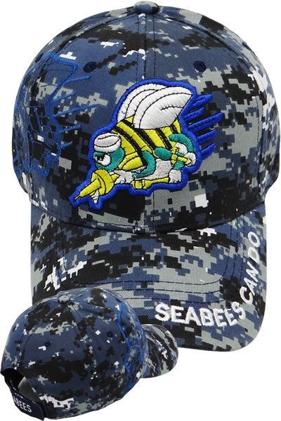 8074e2f780dfd SEABEES - SEEBEES CAN DO CAP HAT DIGITAL US NAVY HAT USN SEA BEE ...