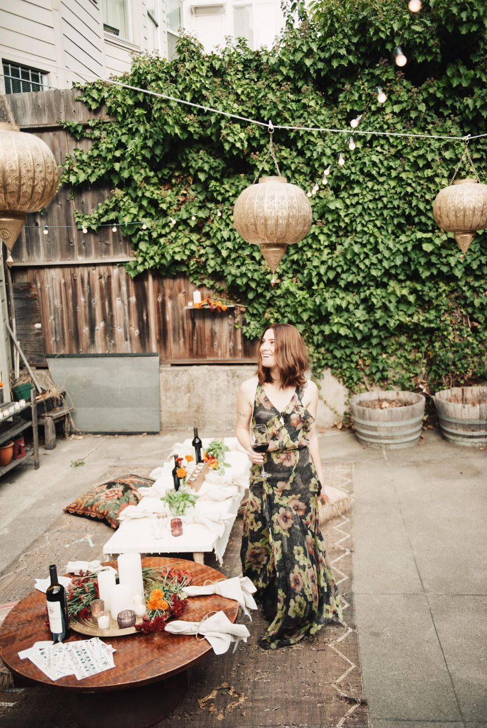 Bohemian Backyard Fall Dinner Party ' Entertain