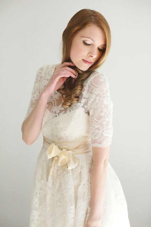 Cyber-Ellie2 Piece Lace and Cotton Wedding DressCYBER by Leanimal