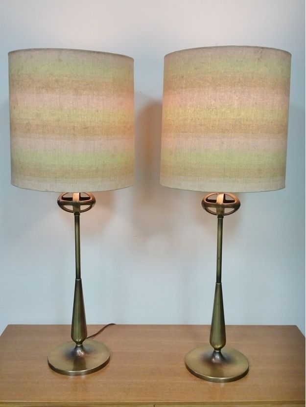 Perfect VINTAGE MID CENTURY MODERN REMBRANDT TABLE LAMPS PAIR BRASS HOLLYWOOD  REGENCY In Antiques, Periods U0026