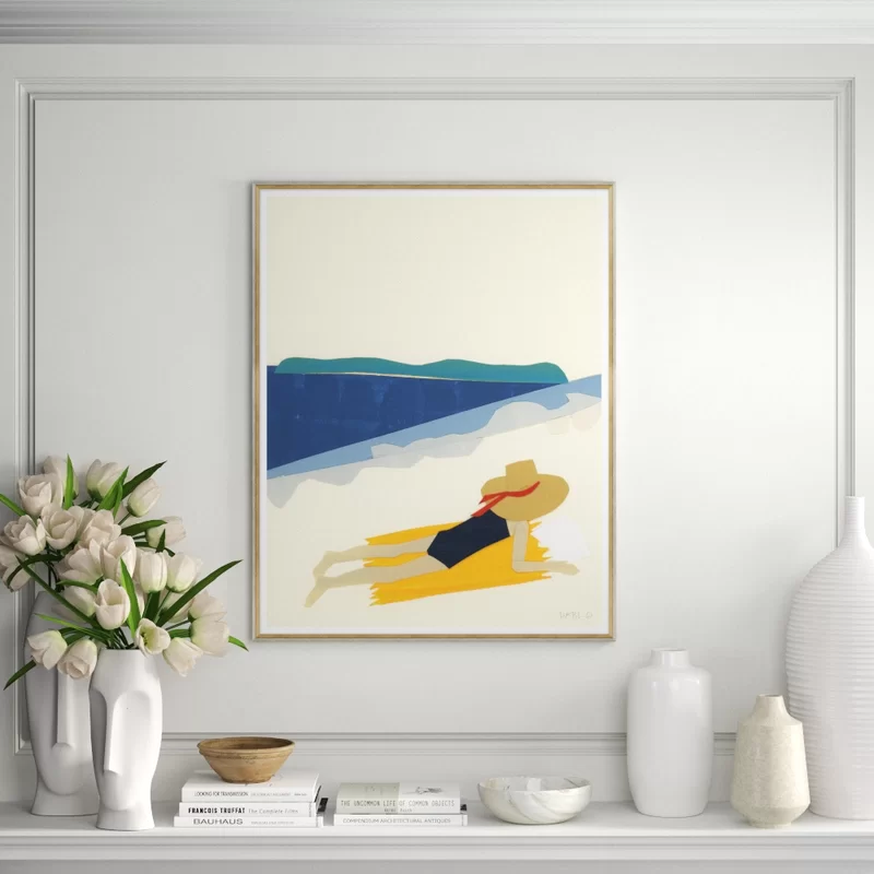 Bathing Beauty Framed Graphic Art Print In 2020 Graphic Art Print Graphic Art Art