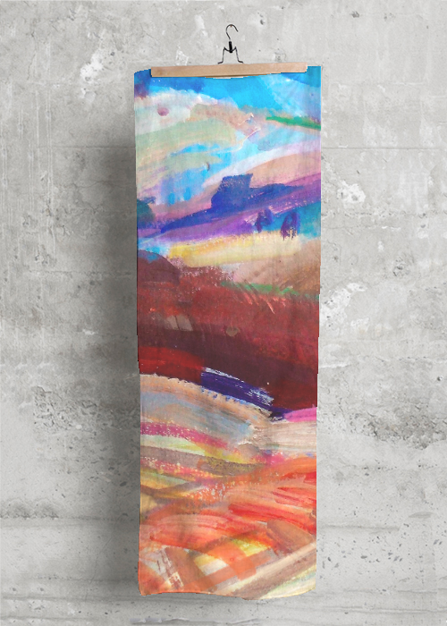 Cashmere Silk Scarf - Watercolor Space Paint by VIDA VIDA 2GBRL