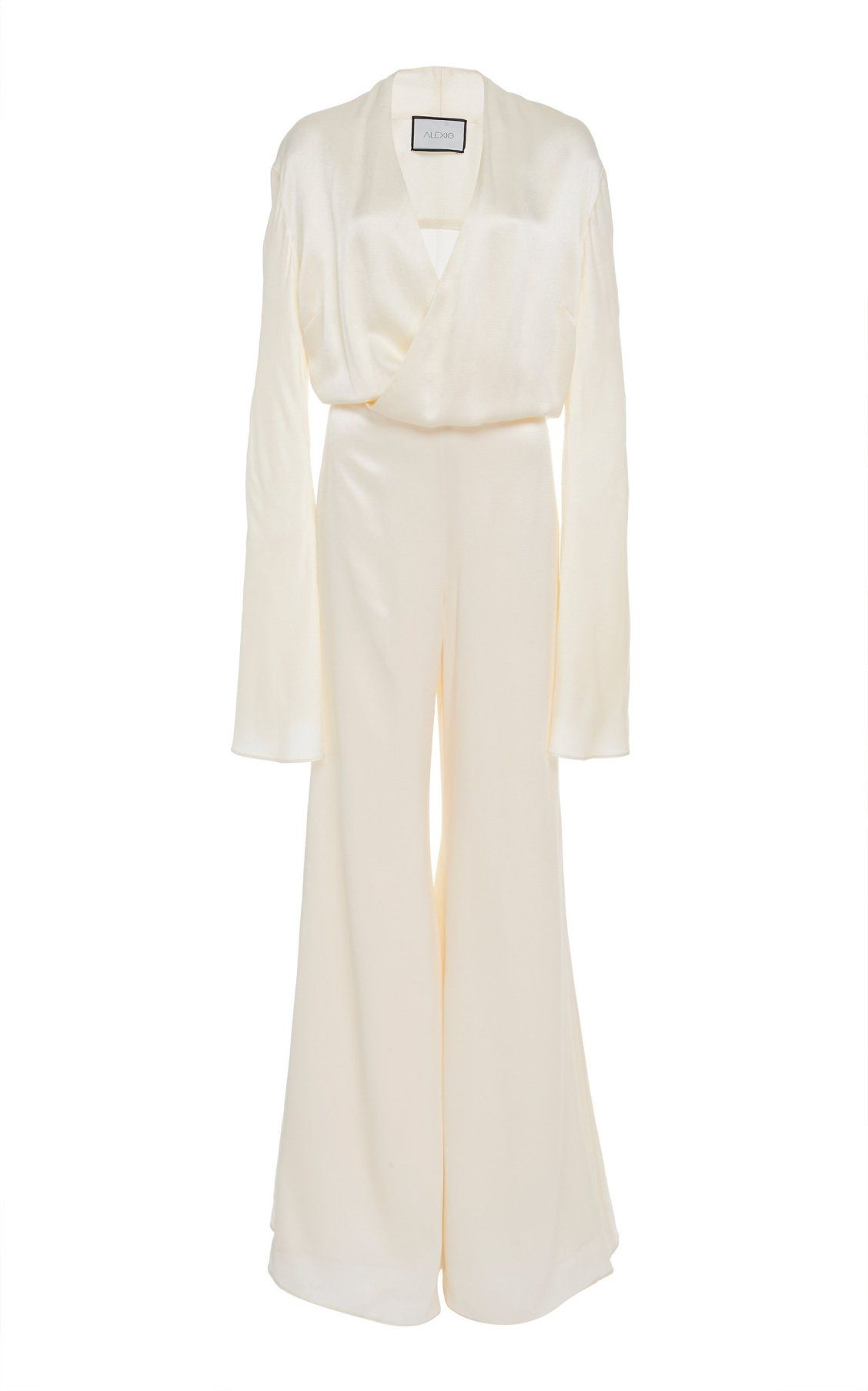 05e363790a7f Raine Flared Duchess Satin Jumpsuit by Alexis Spring Summer 19 ...