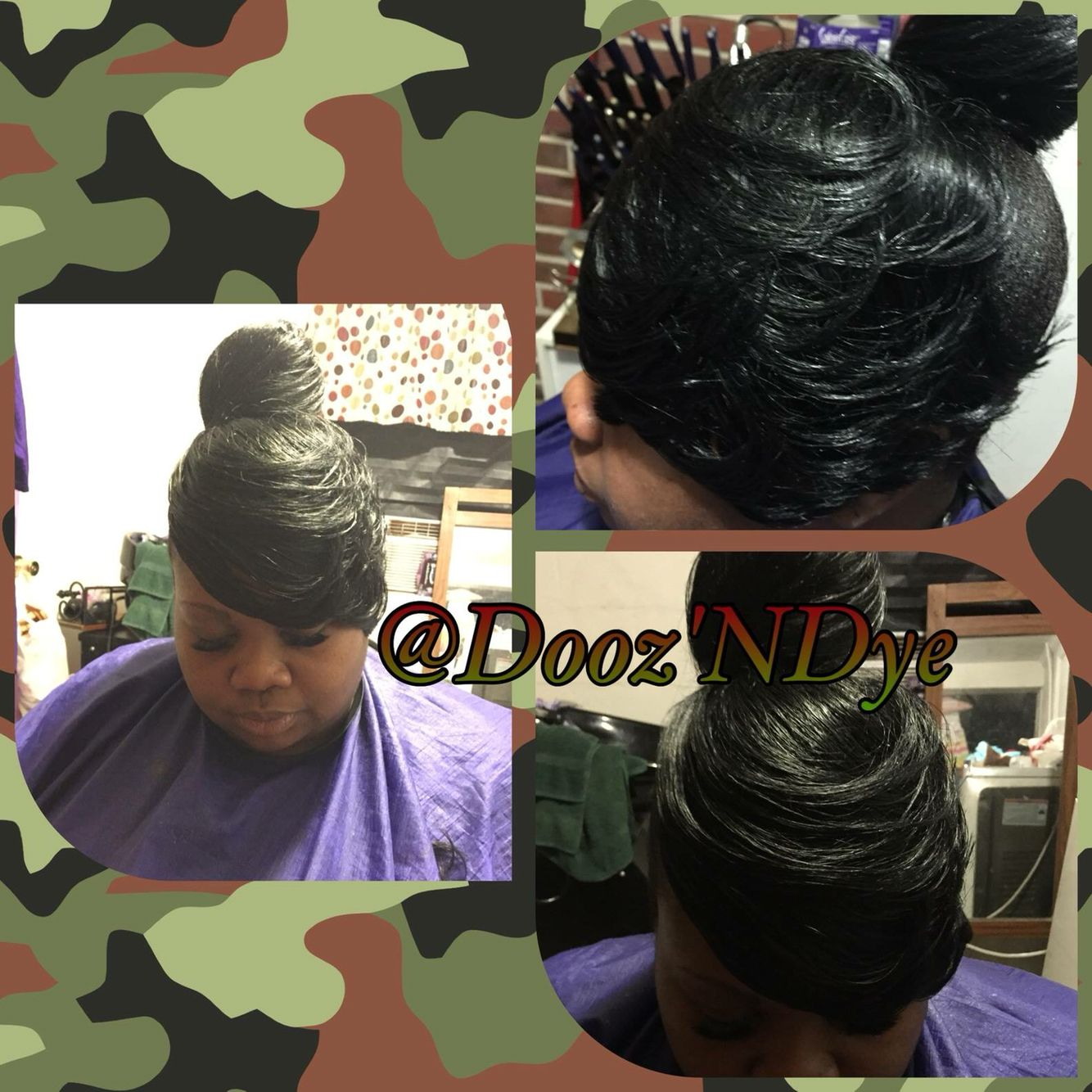 Hairstyles for black women updo relaxed hair black hair care hair pmusecretfo Images