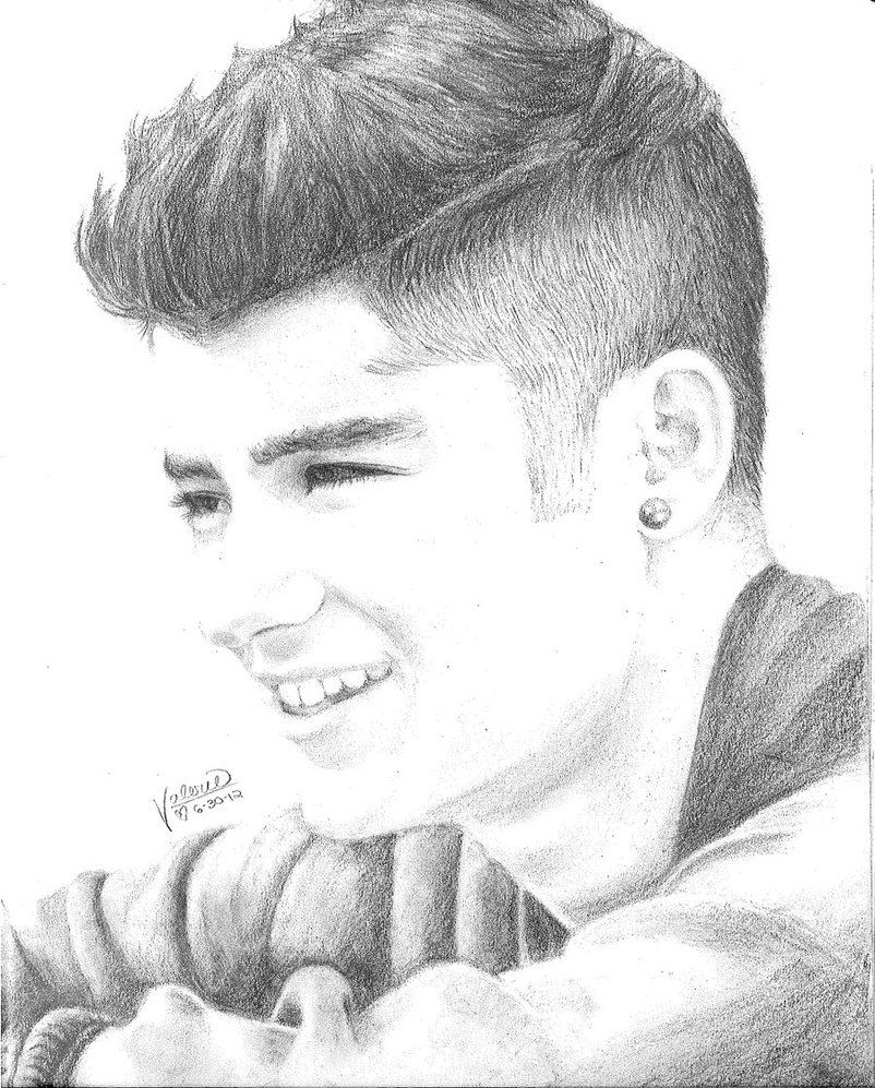 Drawing for girls one direction draws zayn