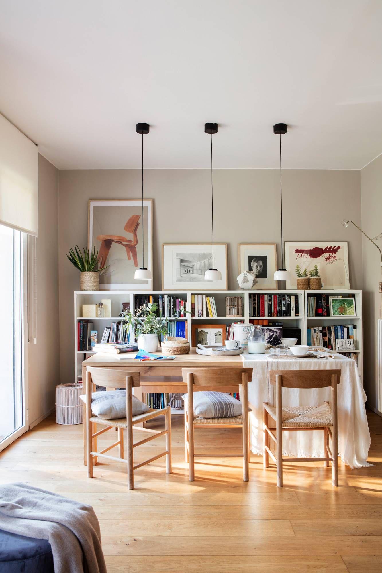 comedor con librería | Librerías en 2019 | Muebles para ...