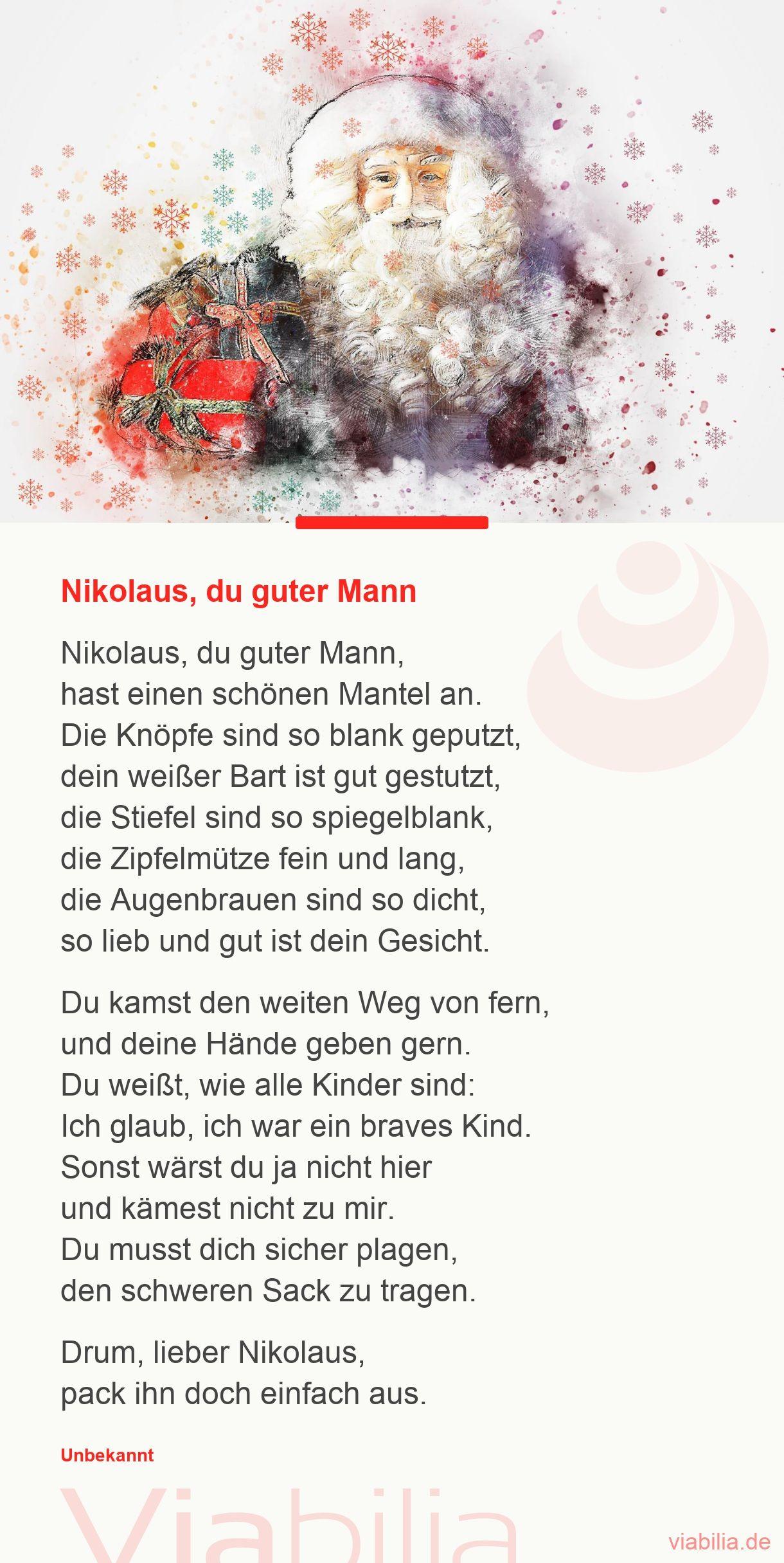 Nikolaus: Sprüche und Gedichte