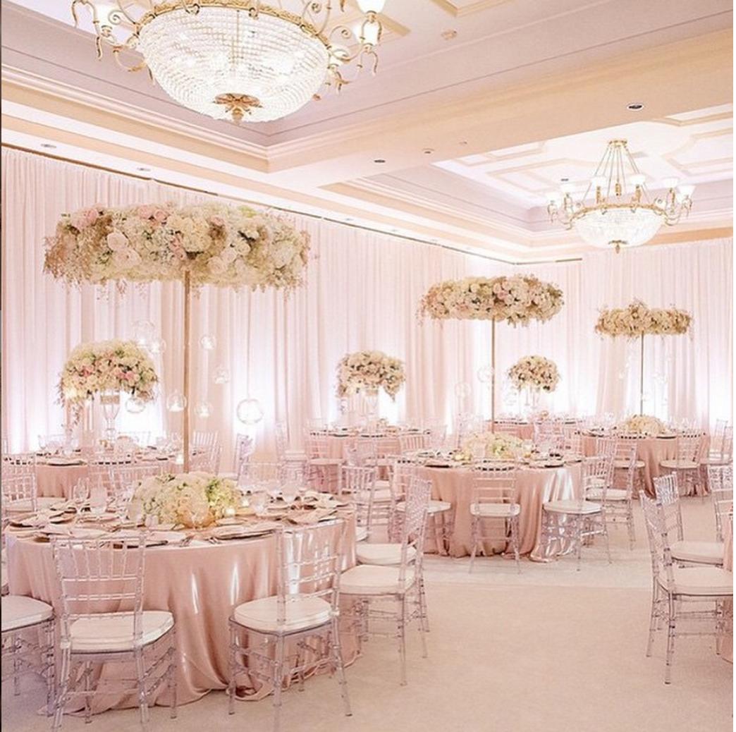 Cute Wedding Ideas For Reception: Blush, Light Pink Room, Tall