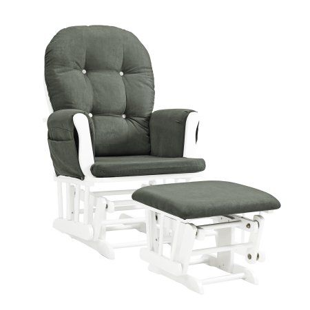 glider chair with ottoman india hanging egg uk baby relax carly gray white nursery products