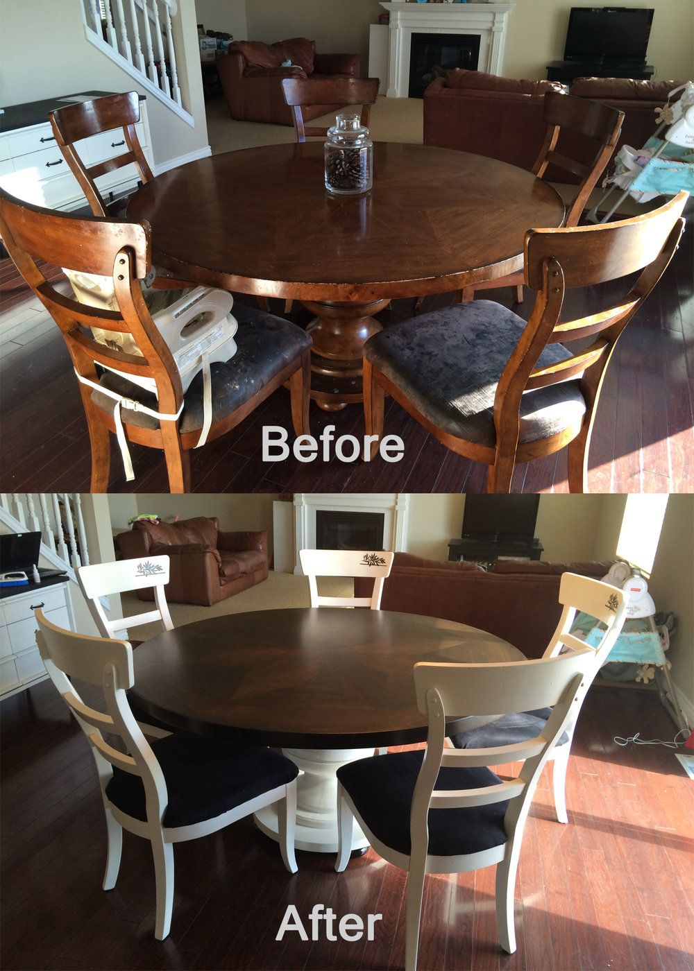 Kitchen Table Chairs Refresh Pendleton And Co Refurbished Kitchen Tables Kitchen Table Makeover Painted Kitchen Tables