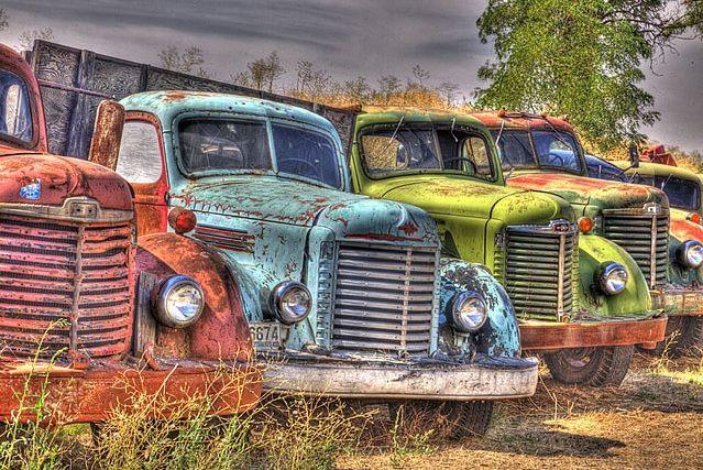 Old trucks in the Palouse area of Eastern Washington |  © Darrel Gulin