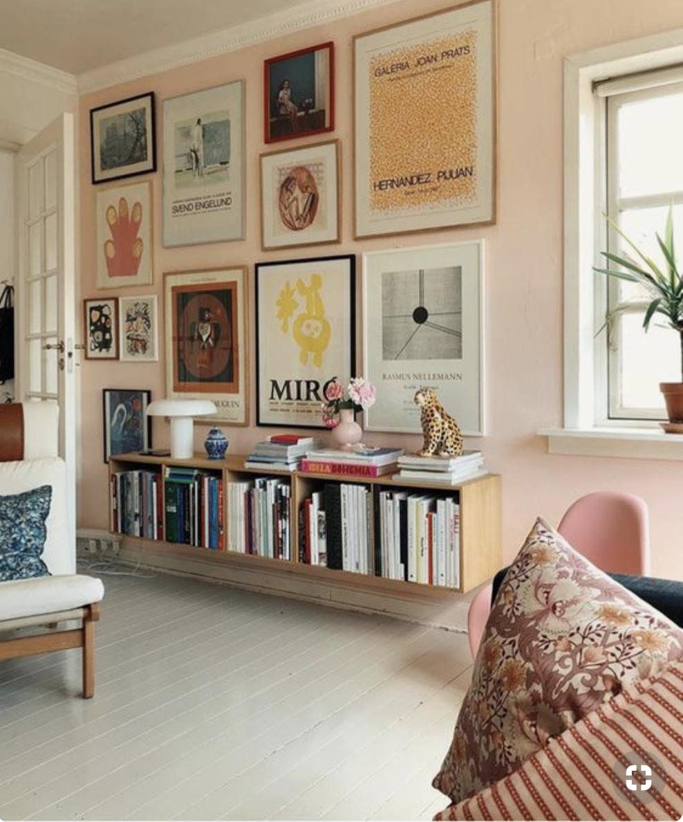 idée habillage mur - de carteles art et la petite bibliothèque