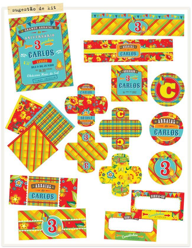 Festa Junina Paraimprimir Free Printables Pinterest Festa