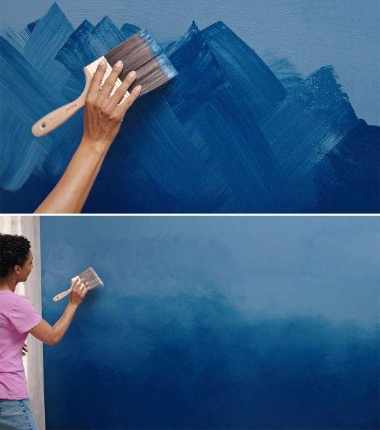 Adding the Ombre Effect to an accent wall is a great way to introduce your own personal color to a room. Get started with these easy-to-follow instructions! #wallpaintingideas