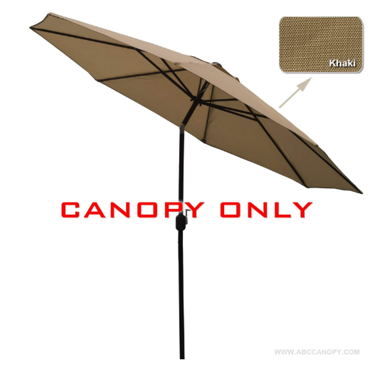 1e629d807c95 23+ colors)9ft Market Umbrella Replacement Canopy 8 Ribs (khaki ...