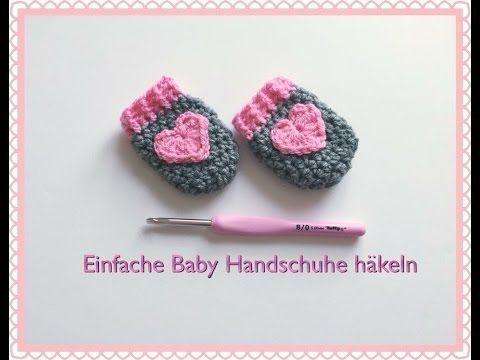 Photo of SUPER EINFACHE Baby Handschuhe häkeln