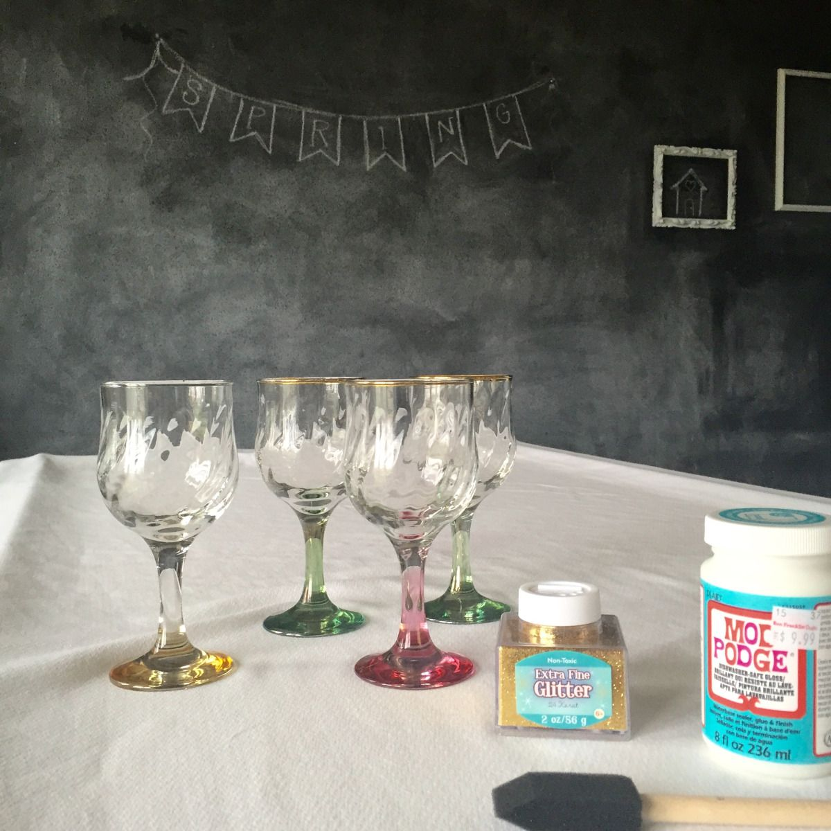 Uncategorized Dishwasher Safe Paint For Glass glittered wine glasses tutorials glass and craft glasses