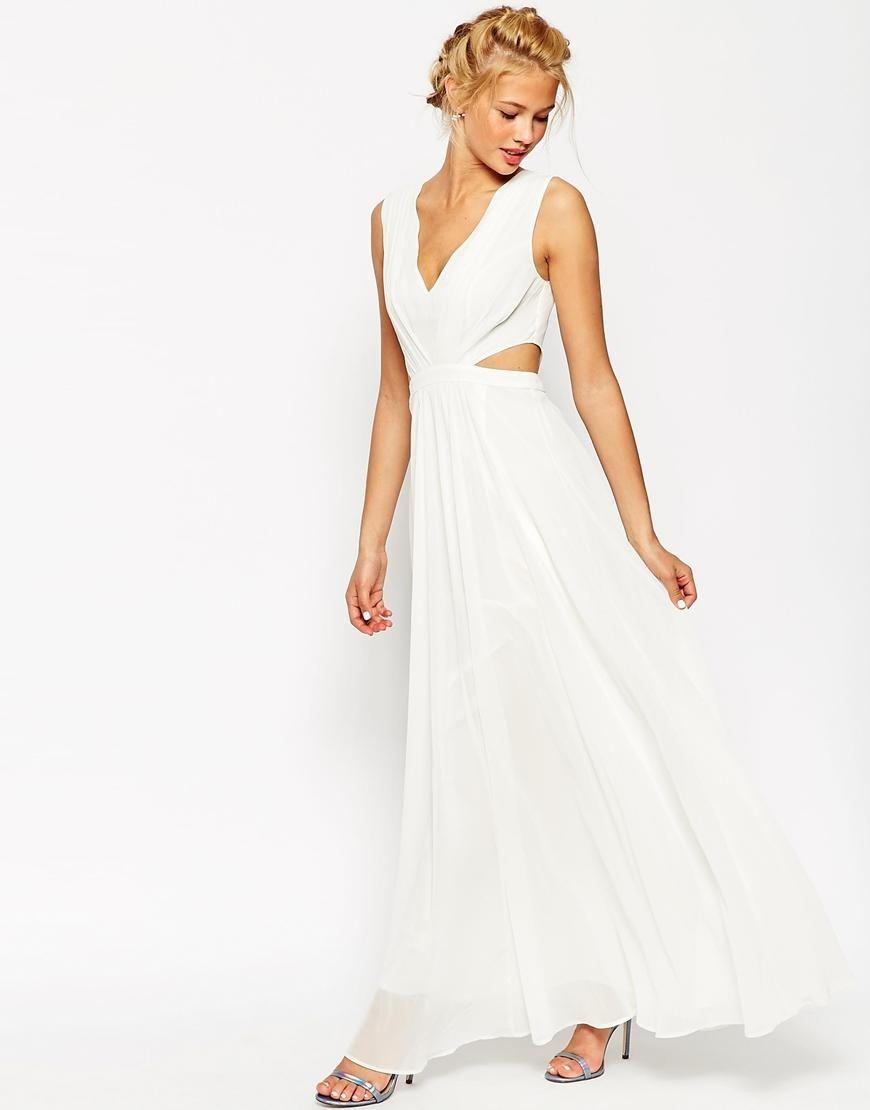 ASOS | ASOS Side Cutout Maxi Dress at ASOS | Wedding | Pinterest ...