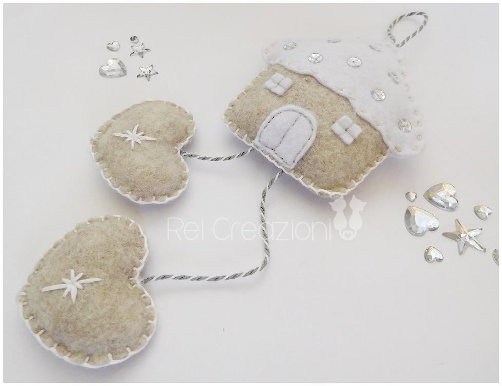 Photo of Decorazioni per la casa in feltro con cuori e paillettes, ghirlanda a parete, Natale
