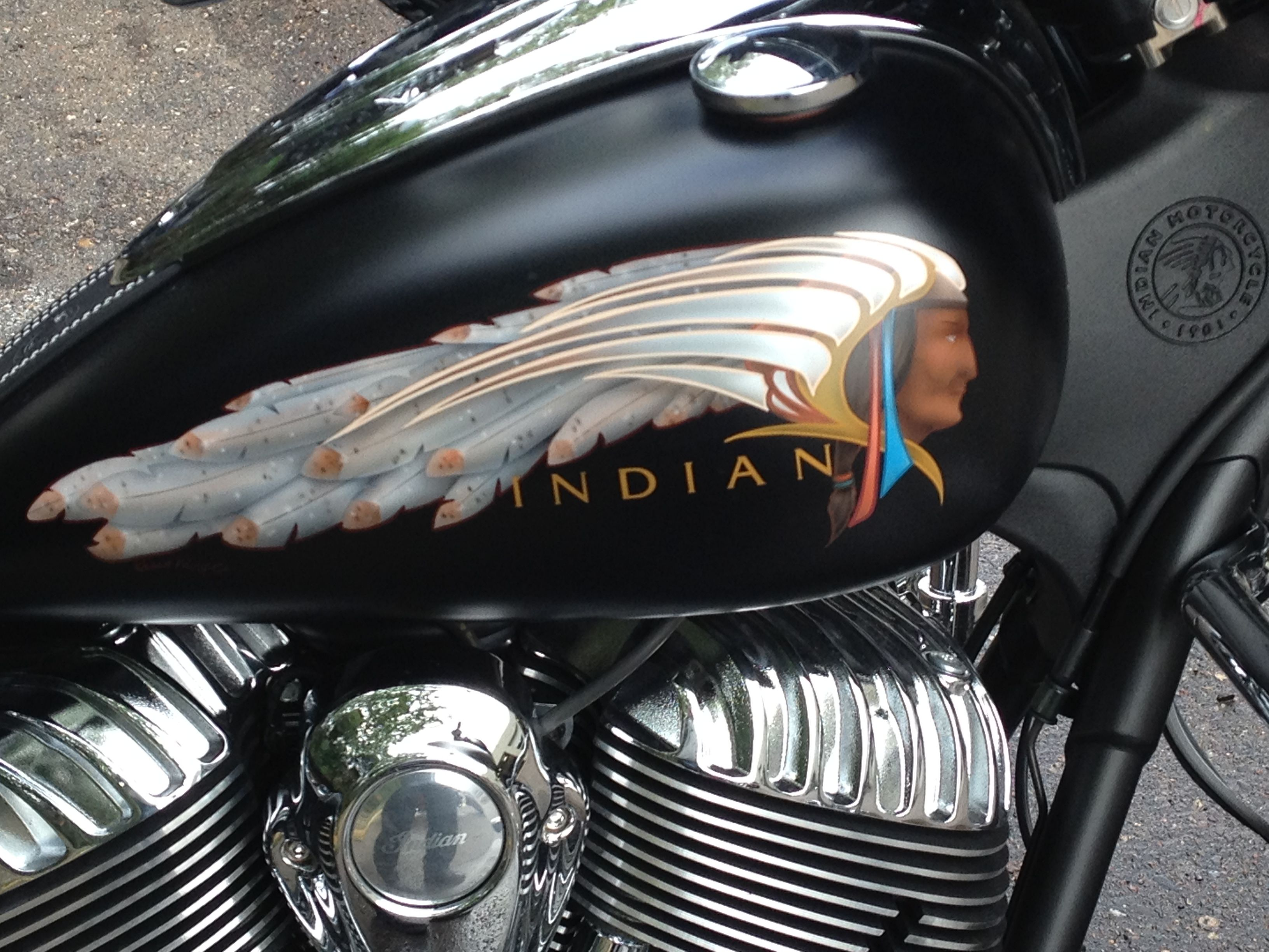 Indian Motorcycle Custom Painted Tank