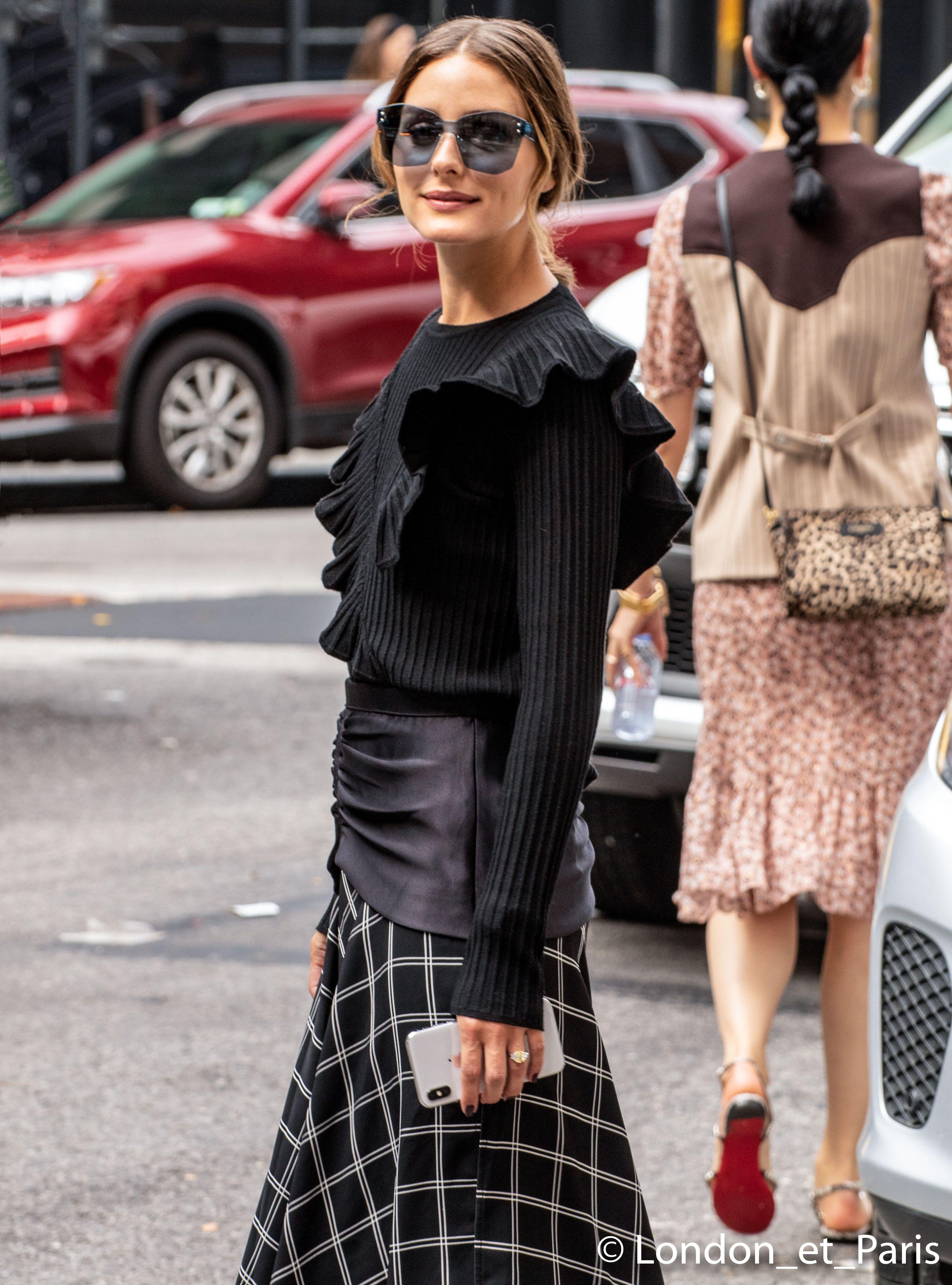 9e4cbb61b4f Olivia Palermo Self-Portrait Street Style New York Fashion Week NYFW SS19