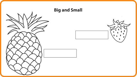 Compare Big or Small Math Worksheet for Kids For more – Maths Worksheet for Kids
