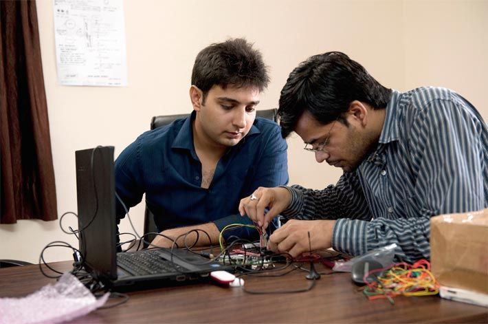 fig.: The image shows Sumit Dagar (left) - he is one of five laureates of the 2012 Rolex Awards for Enterprise - together with his collaborator Ravi Bagree who is responsible for the phone technology. Both hope to develop a fully interactive Braille smartphone in five years; New Delhi, India, 2012. Photo: RAE12SD_02-016 ¦ (C) Rolex Awards/Ambroise Tézenas. Deadline of the next 2014 Rolex Awards for Enterprise is on 31 May 2013.