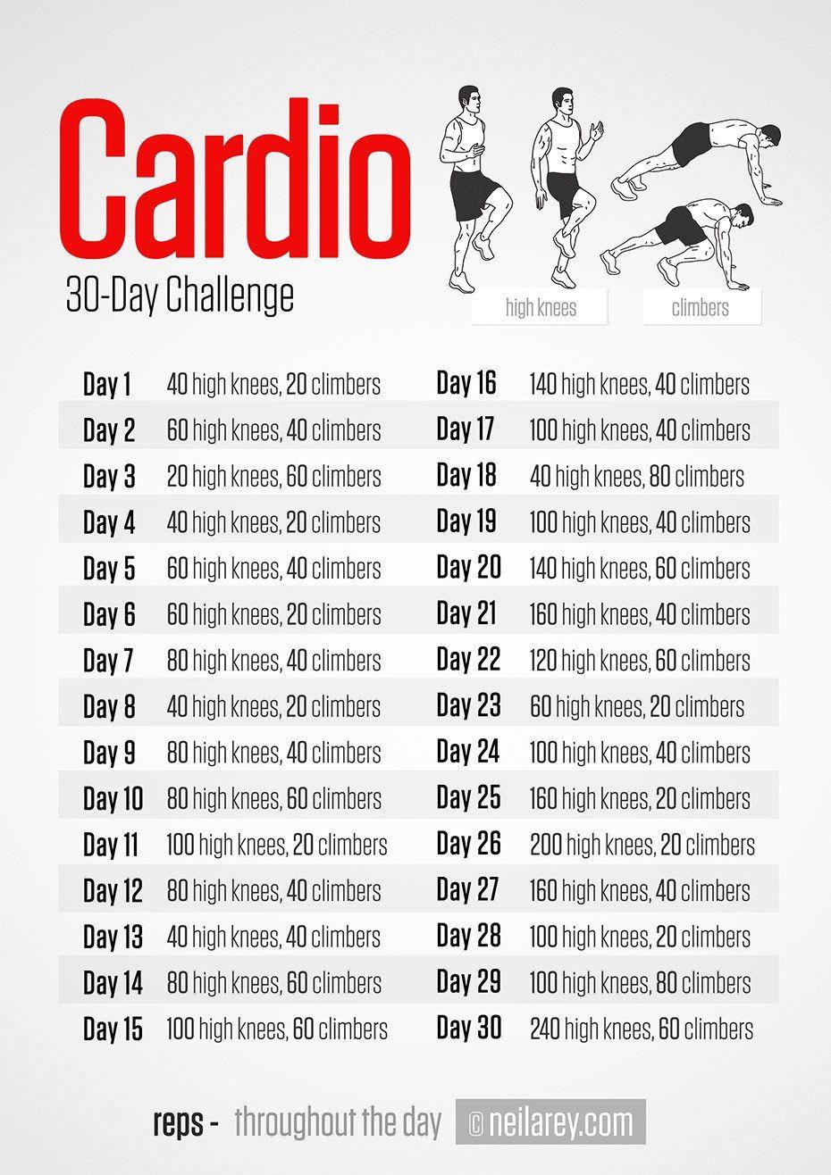 Challenges Cardio Challenge 30 Day Cardio Challenge Endurance