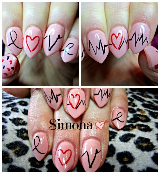 Nail Art Love Design Emsilog - 30 Nail Designs That We Love. 17 Love Inspired Valentines Day Nail