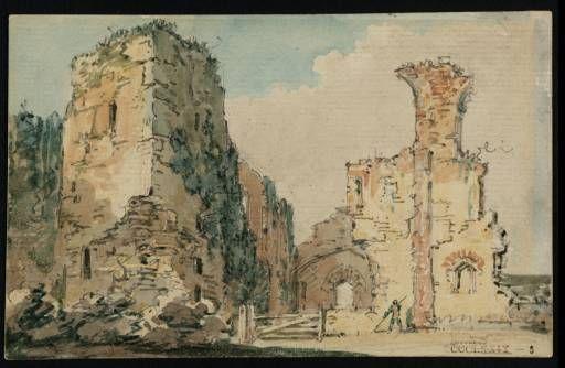 Girtin. The ruins of Middleham Castle, Yorkshire