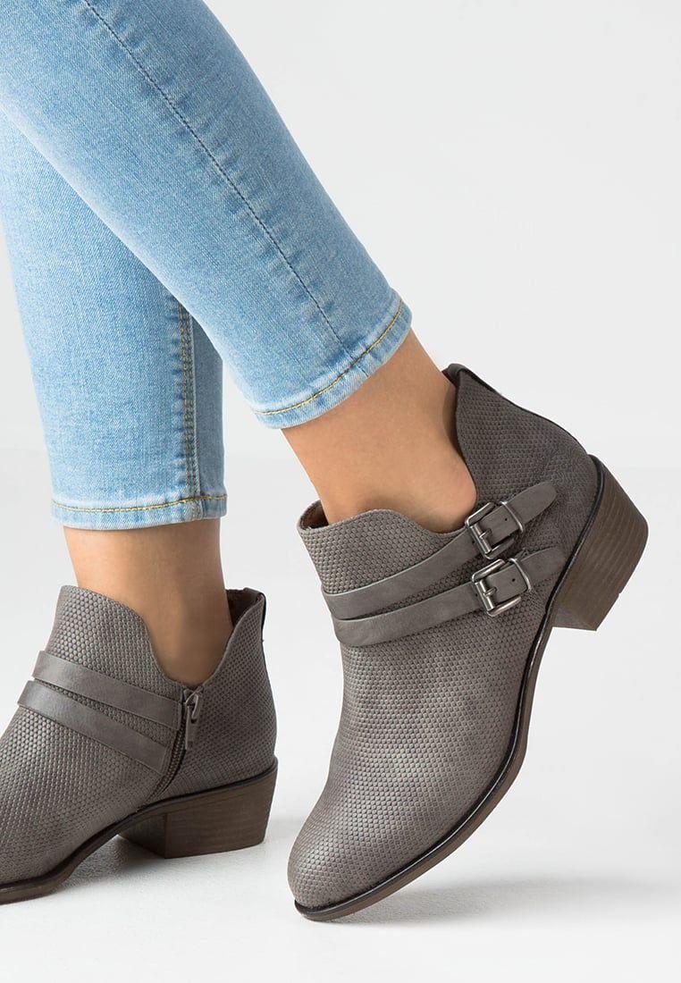 new product df680 81f75 s.Oliver Boots à talons - dark grey - ZALANDO.FR | Shoes ...