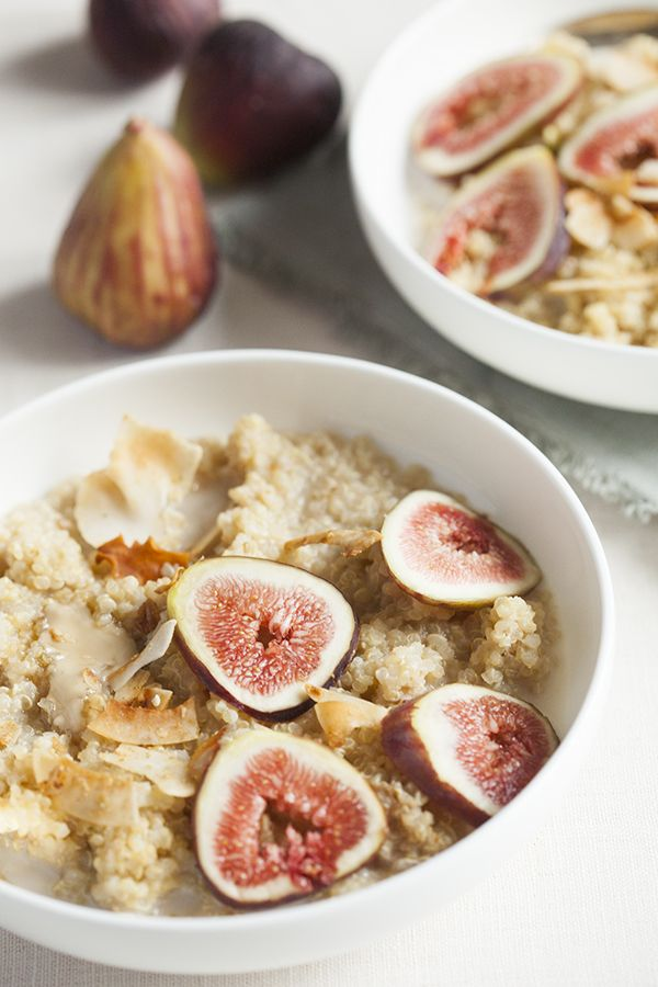 Maple Vanilla Quinoa Porridge With Fresh Figs Choosing Raw