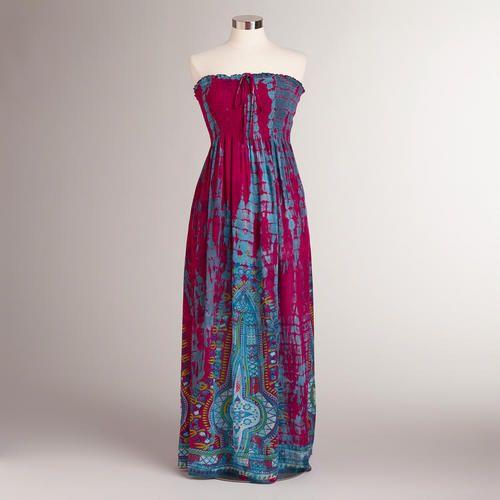 One of my favorite discoveries at WorldMarket.com: Fuchsia Elyse Maxi Dress