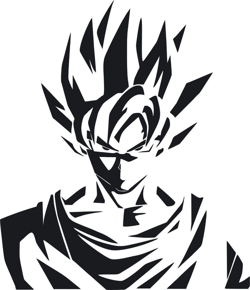 Dragon ball z dbz logo super saiyan goku anime vinyl die cut