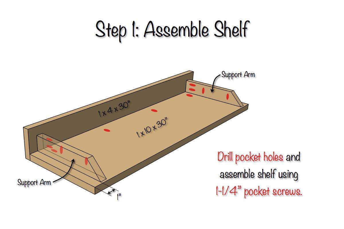Secret Floating Shelf Hidden Storage Floating Shelves