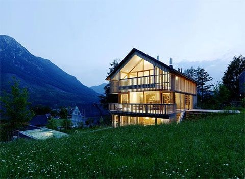 Austrian House Blending Traditional And Modern Design Elements Found On Busyboo