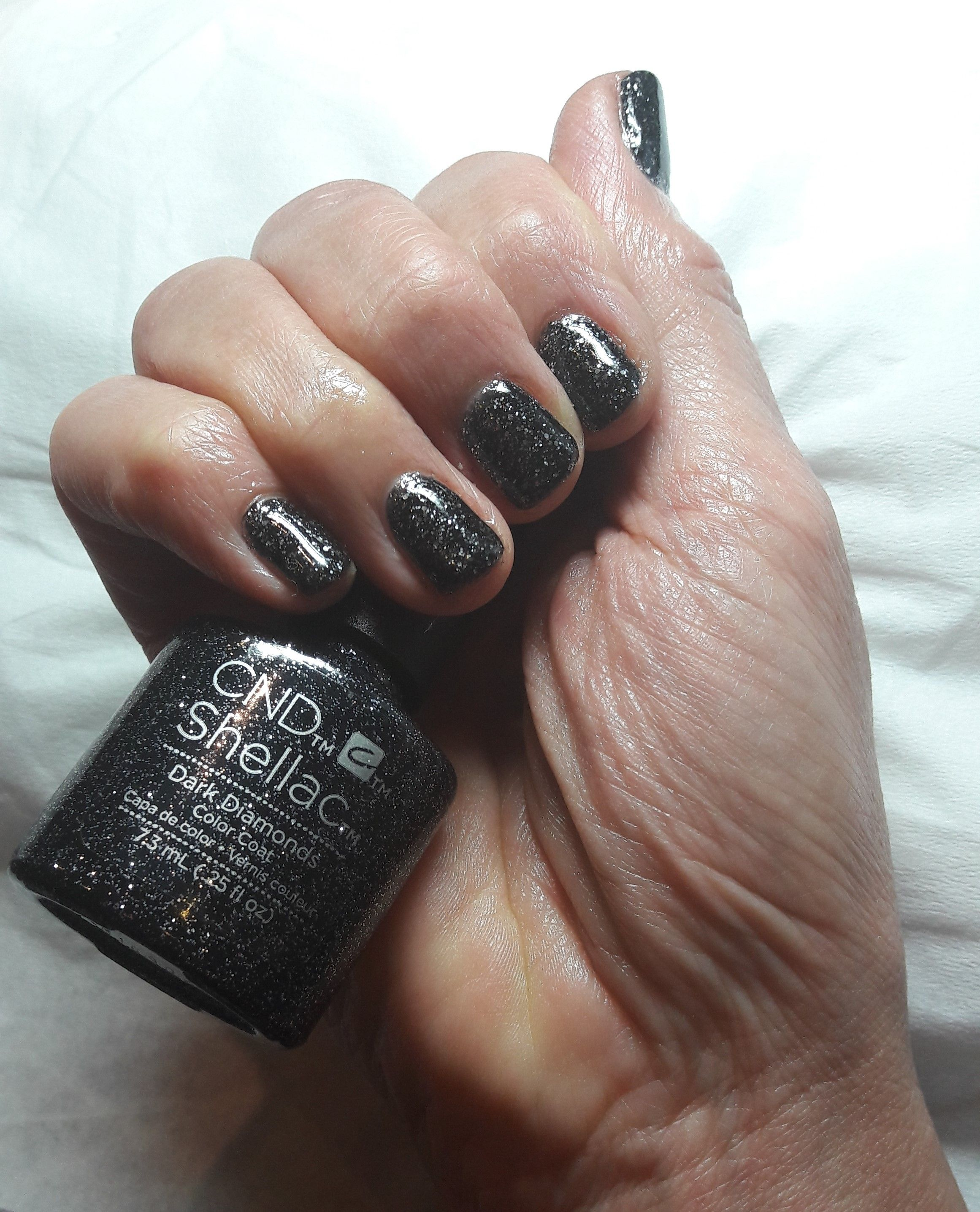 Shellac Manicure Dark Diamonds #shellac #sparkle #Christmas ...