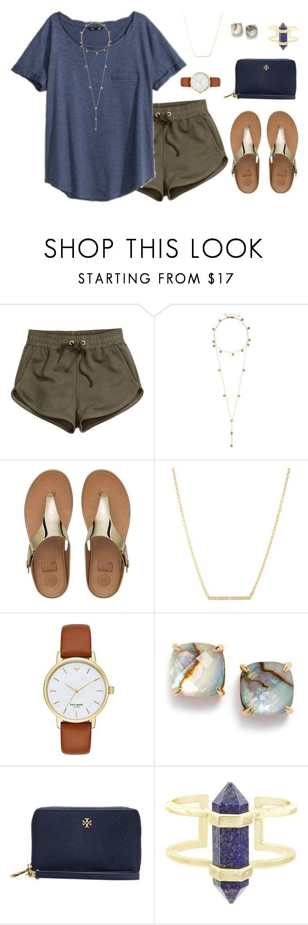 """""""•{U better run faster than my bullet}•"""" by livnewell ❤ liked on Polyvore featuring H&M, Vineyard Vines, Arme De L'Amour, FitFlop, Kate Spade, Tory Burch and Kendra Scott"""