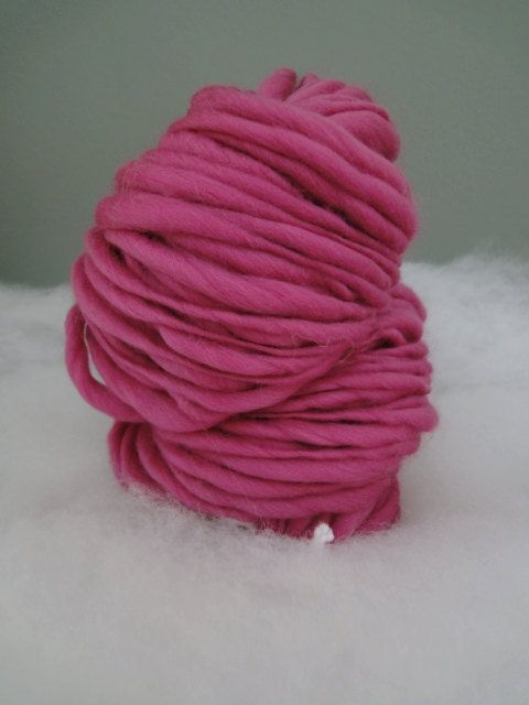 Berry   handspun   thick and thin yarn by fuzzyfibers1960 on Etsy, $21.70