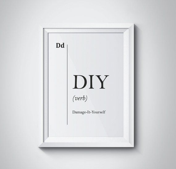 DIY Funny Definition Handmade Print Workshop Decor DIY Print Design Studio Wall Decor Dorm Decor Han