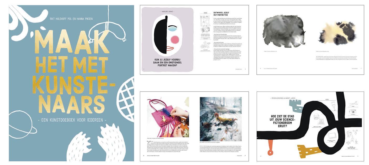 Workshop van kunstenaars in doeboek,een kunst-doeboek voor iedereen en gebaseerd op de workshops die het Stedelijk Museum Amsterdam wekelijks organiseert …