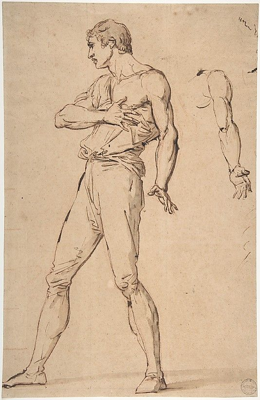 Standing Man with His Right Hand on His Chest ca. 1787 François ...