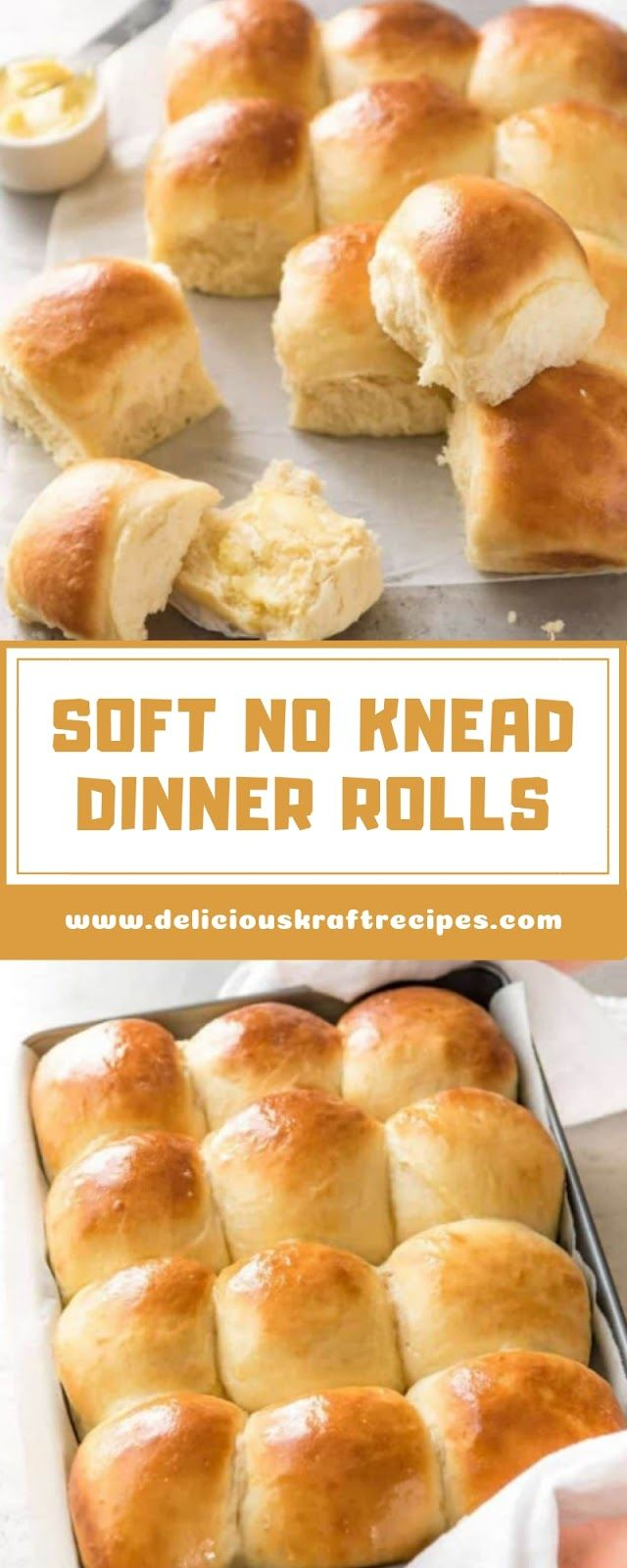 SOFT NO KNEAD DINNER ROLLS images