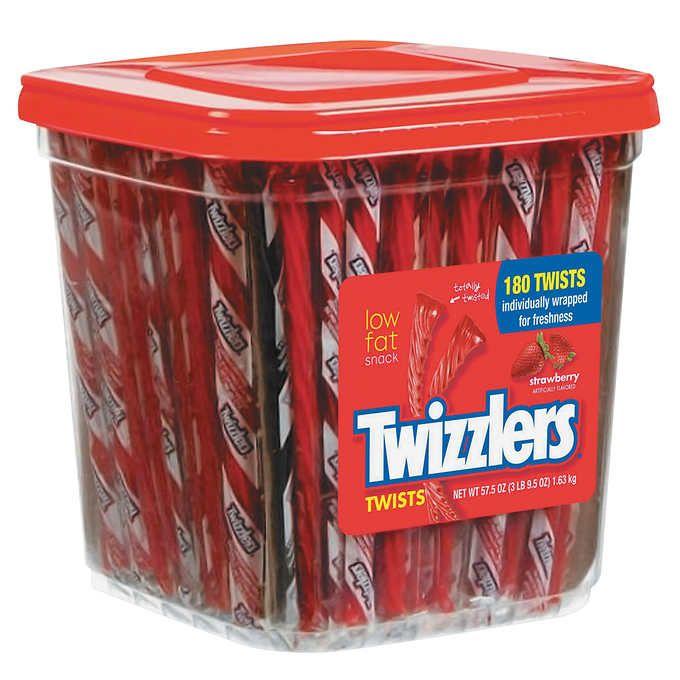 twizzler strawberry twists 180 count strawberry liquorice twizzlers red licorice pinterest