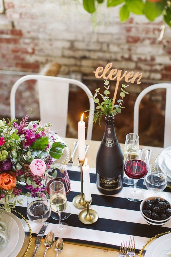 Modern Romantic Wedding With Freixenet T A B L E S C A P E